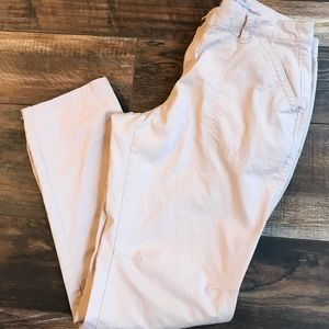 Light pink skinny utility pant